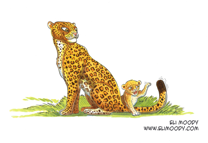 leopard and cub fb 2