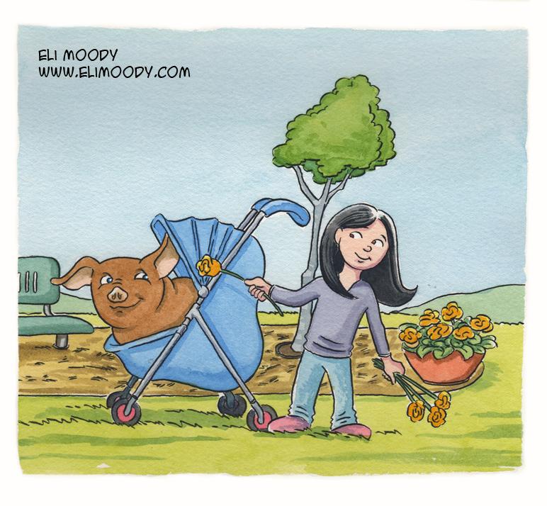 stroller pig