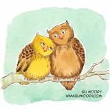 hugging owls