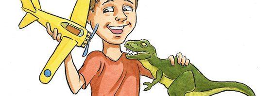 Boy with T-Rex